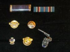 Lot of Us Military Ribbons, Pins, Ruptured Duck, Wwii era, other