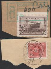 BC. CLOVERDALE, COWICHAN BAY, on pieces 1940s