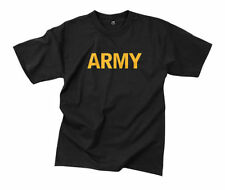 Cotton Solid Basic Tees Army T-Shirts for Men