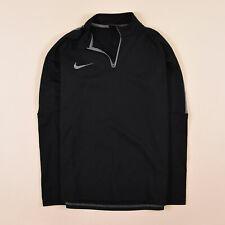 Nike Herren Sweater Sweat Tracktop Gr.M Dri-Fit Sport Training Schwarz 74257