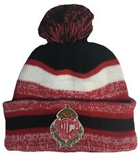 CLUB DEPORTIVO TOLUCA HAT BEANIE POM POM COLOR RED BLACK WHITE