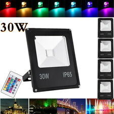 5X 30W Rgb Led Flood Light Outdoor Yard Lighting Spotlight with Remote Control