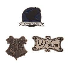 House Ravenclaw - Harry Potter Set of 3 Lapel Pins Hogwarts Crest Wisdom Raven
