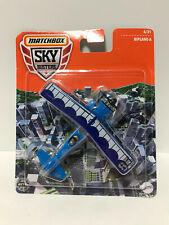 2021 Matchbox Sky Busters® 68982 #6 Biplane-A BLUE