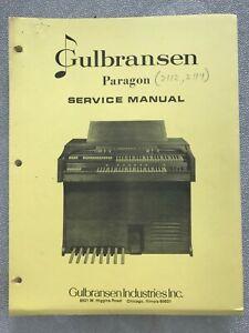 Gulbransen Organ Model 2112-2114 Paragon Service Manual