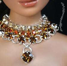 """Rhinestone Necklace and Earring Jewelry Set for 16"""" Tonner Tyler 144B"""