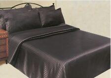 6 Piece Striped Satin Sheet Sets with Bonus Pillow Cases