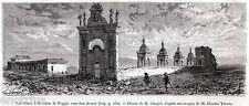 FOGGIA: Chiesa delle Croci.Tavoliere.Capitanata.Daunia.Puglia.Stampa Antica.1877