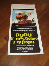 LOCANDINA,Dudù il maggiolino a tutto gas,1974,AUTO CAR WOLKSVAGEN,Giller Borgese