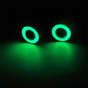 RC LED Angel/Halo Eyes Lights (GREEN) Tamiya Traxxas HPI Drift Crawler Truck UK