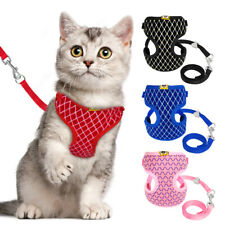 Pet Cat Walking Jacket Harness & Leash Mesh Padded Small Dog Puppy Vest Pink S/L