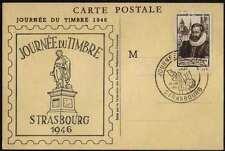 1946 STRASBOURG - CARTE FDC DE LA JOURNEE DU TIMBRE /COTE 25.00 EURO (ref 4022b)