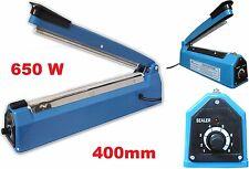 Sigillatrice XL a caldo,sigilla sacchetti,buste,per 40cm.Sigillo 400mm.650W pp