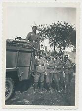 Foto Kfz / LKW -Mannschaftswagen-Soldaten   2.WK  (L865)