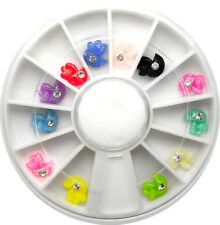 3d MUSHROOM WITH GEM IN WHEEL NAIL ART DECO DESIGN CRAFT NAILS 12 GEMS