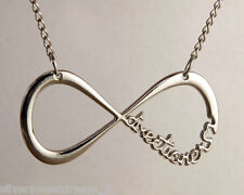 ONE DIRECTION STEEL NECKLACE DIRECTIONER INFINITY PENDANT COLLIER COLLAR 1D