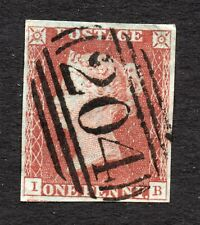 Qv 1841 Sg 8-12 ( I B ) 1d red brown - 4 margin with 204 cancel of Cirencester.