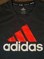 Adidas Climalite Gray w Logo Women's Size XL Extra Large long sleeve Tee T-Shirt