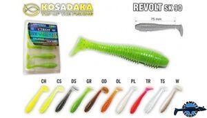 5 leurres souples Revolt SK90  KOSADAKA 90mm pêche streetfishing perche sandre