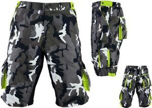 ProAthletica Men Camo MTB Off Road Cycling Shorts Cool-max Padded Liner Shorts G