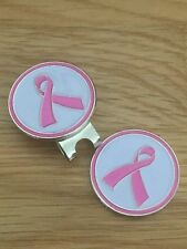 Pink Ribbon magnetic golf ball marker with Hat / Cap clip
