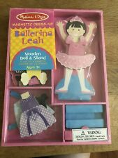 NEW Melissa & Doug Magnetic Dress-Up Doll Ballerina Leah