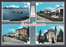 FERRARA BERRA 02 Fr. COLOGNA - SALUTI da... TRAGHETTO PO Cartolina viagg. 1973