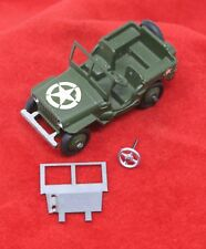 Dinky 153a & 25j Small US Jeep Windscreen for US Army &  Civilian Jeeps