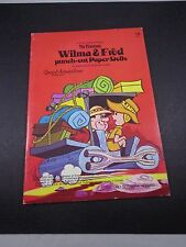 *   the FLINTSTONES-WILMA & FRED PUNCH-OUT PAPER DOLLS-1974-WONDER BOOKS-VINTAGE