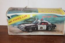 NICE CHIIC #305 TIN BATTERY OPERATED  POLICE CAR  BOX only