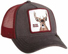 "Goorin Bros. Animal Farm Trucker Snapback Hat Cap Grey/Burgundy/""Buck Fever"""