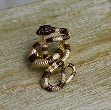 Lovely Realistic Style Snake Badge Lapel Pin Stick Brooch