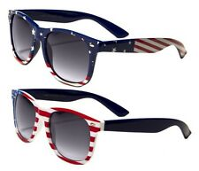 2 Pairs Classic American Patriot Flag Wayfarer Sunglasses USA
