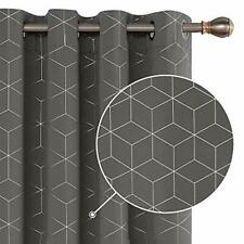 Deconovo Diamond Foil Printed Curtains Blackout Curtains Eyelet Curtains Thermal