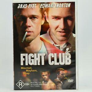 Fight Club Edward Norton Brad Pitt 2002 DVD GC