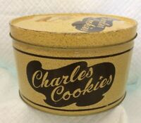 Vintage Charles Cookies Tin Container by, Musser's  Potato Chips, Inc. 1980's