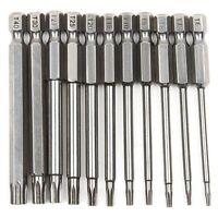 11 StüCke 75 Mm Magnetische S2 Stahl Schraubendreher Bits Hex Torx Kopf T6 / D2Q