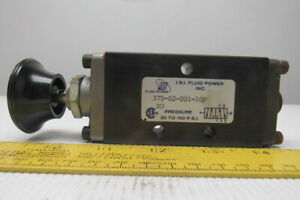"ISI Fluid Power 375-02-001-10P 30-150PSI 4-Way Air Pneumatic Valve 1/4"" NPT"