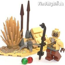 Lego Star Wars Custom Tatooine Desert & Custom Tusken Raider & Gaffi Stick NEW