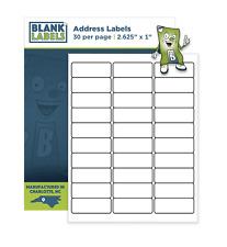 30000 Address Labels Laser Ink Jet Compatible Word Sizes  2.625 x 1. 1000 Sheets