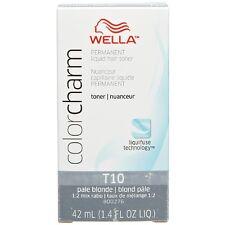 WellaColor Charm Permanent Liquid Hair Toner, Pale Blonde [T10] 1.40 oz (3 pack)
