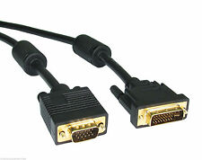 5m DVI Male to VGA Male Cable PC to TV LCD TFT Monitor