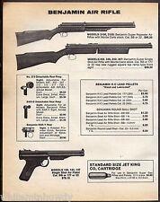1983 BENJAMIN 3100, 3120 & 340,342. 347 Rifle 130, 132, 137 Air Pistol AD