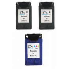 PACK 3 cartuchos XL GEN 21 & 22 Deskjet d1560 f2291 f310 f325 f335 f340 PREMIUM