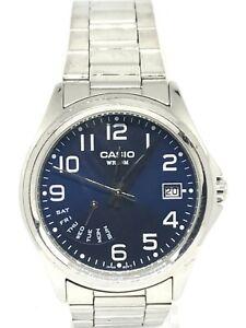 Casio Ladies Stainless Steel Watch Date Adjust MTP-1369P Stainless Steel