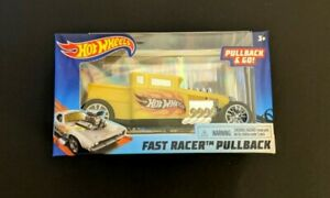Hot Wheels Bone Shaker Fast Racer Pullback Car (Yellow) 2020 MODEL SAME-DAY SHIP