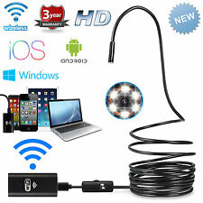 5m WiFi Endoscope HD Borescope Inspection Camera Video for Andriod iPhone X IOS