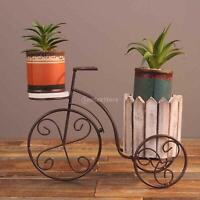 Parisian  Iron Bicycle Flower Desktop Planter Holder Bonsai Crafts Porch Garden
