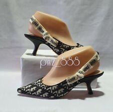 CHRISTIAN DIOR Oblique J'Adior Heels Shoes Size 37D
