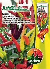 """N.L.Chrestensen Chili """" Fiesta Cayenne Mix """" mittelscharf Samen Paprika 40735"""